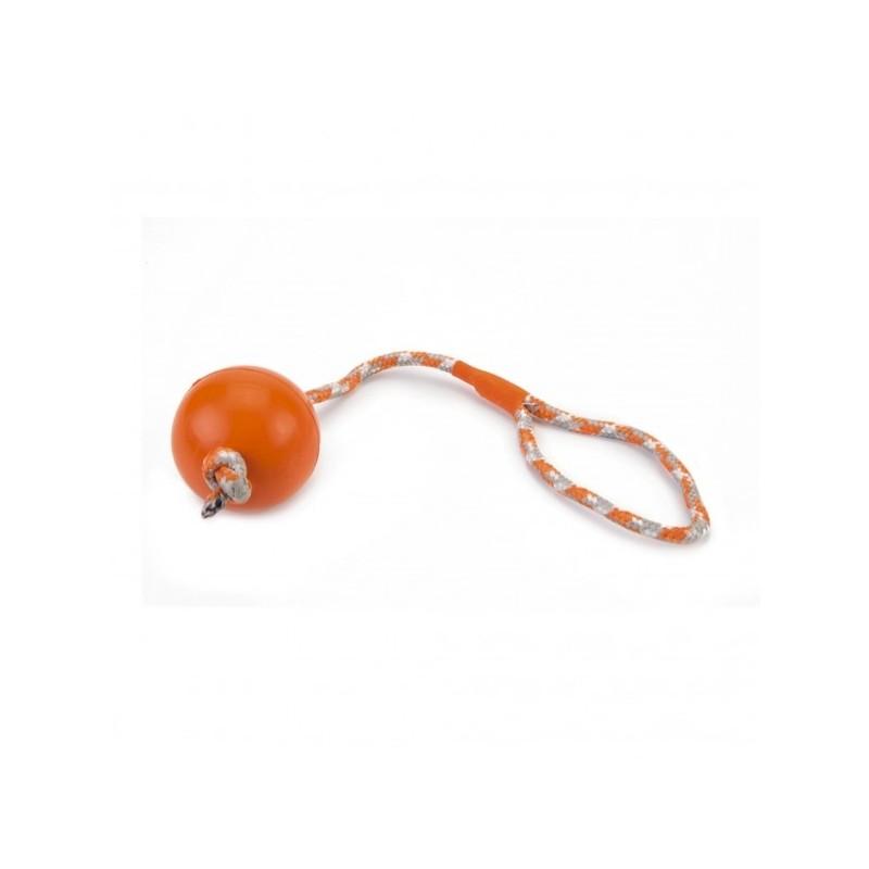 Beeztees giocattolo per cane palla arancione con corda