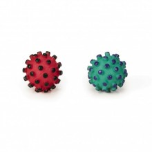 Beeztees pallina con spuntoni per igiene dentale in vinile giocattolo per cane