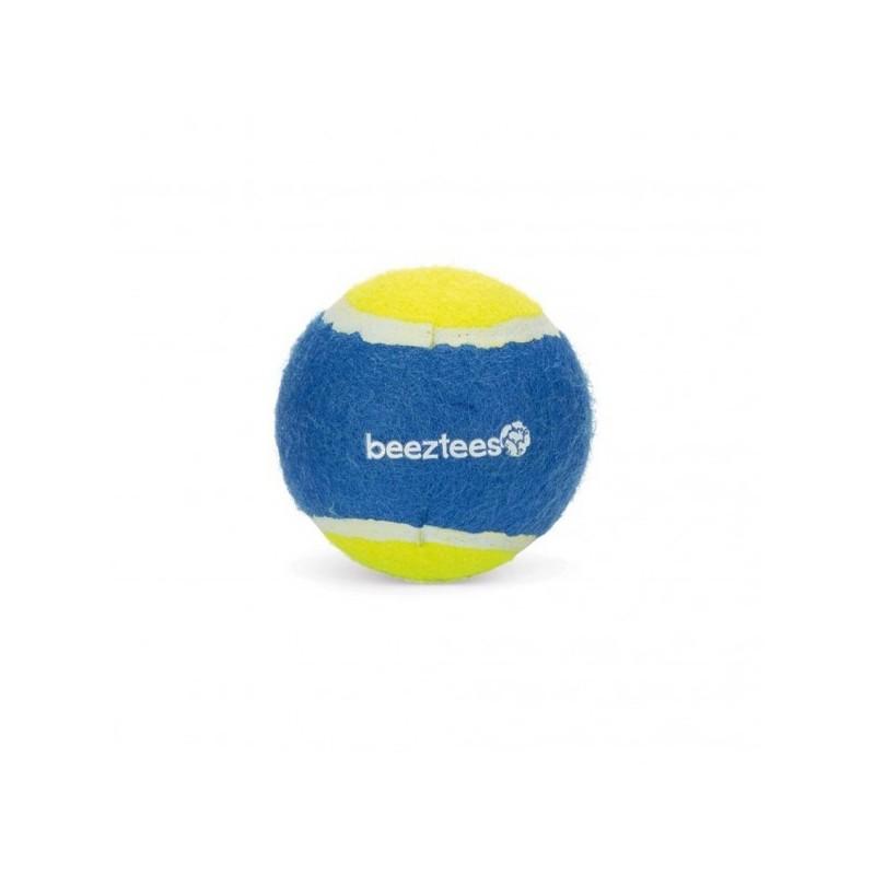 Beeztees giocattolo cane pallina da tennis blu gialla