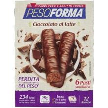 Pesoforma barrette dietetiche 6 pasti cioccolato al latte