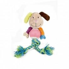 Beeztees giocattolo per cane pupazzo corda in tessuto resistente