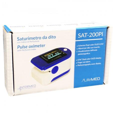 Intermed Sat-200PI Pulsossimetro da dito Professionale Garanzia Italia offerta farmacia
