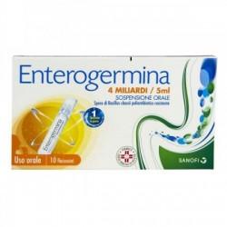 "Enterogermina ""4 Miliardi / 5 Ml Sospensione Orale"" 10 Flaconcini"