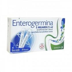 "Enterogermina ""2 Miliardi/5 Ml  Sospensione Orale"" 20 Flaconcini 5 Ml"