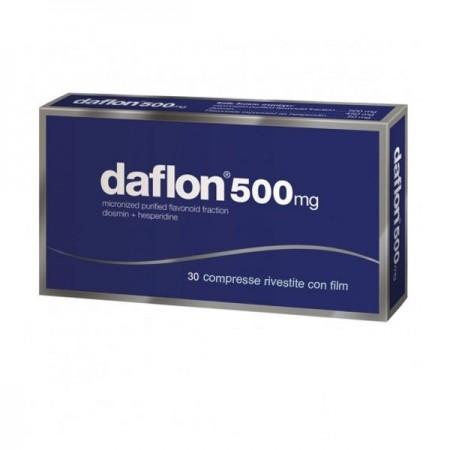 """Daflon """"500 Mg Compresse Rivestite Con Film"""" 30 Compresse"""