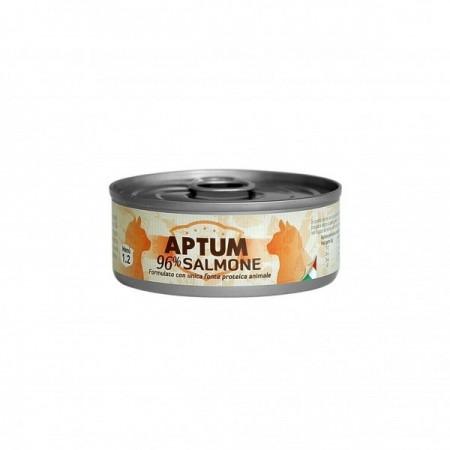 APTUM 10 lattine di salmone cibo sano per gatti 85 grammi