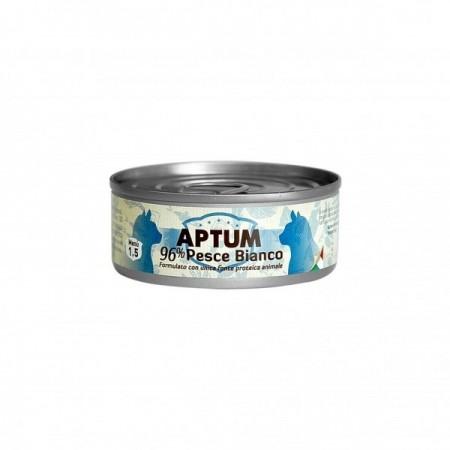APTUM 10 lattine pesce bianco per gatti 85 grammi