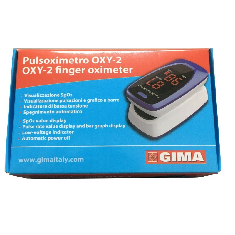 Pulsossimetro da dito oxy-2 - Saturimetro professionale - Ossimetro