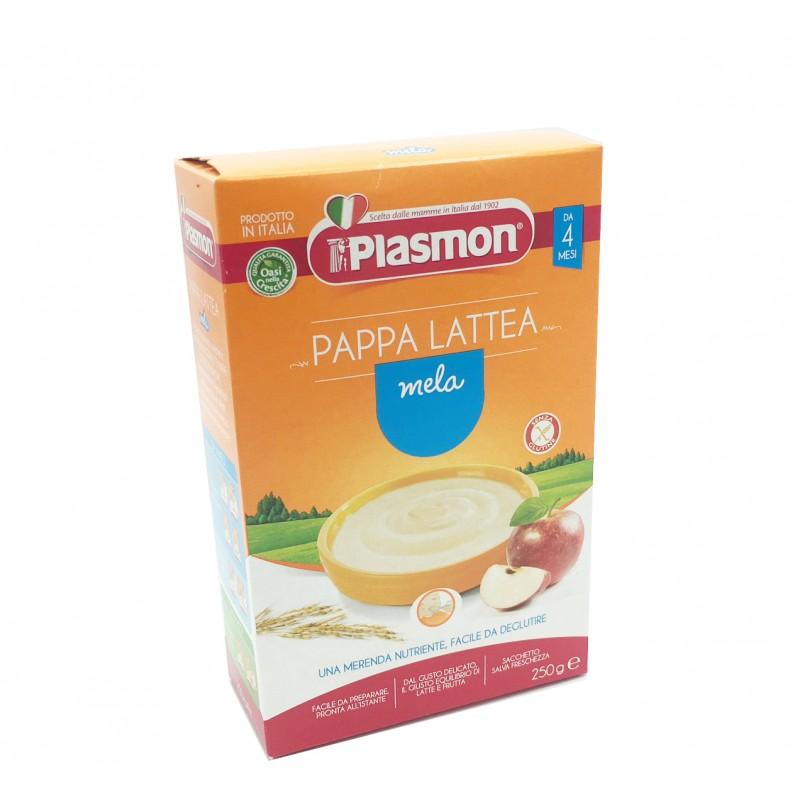 Plasmon pappa lattea gusto mela 250gr - Alimento nutriente per svezzare i bimbi