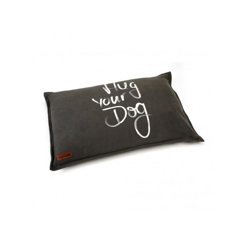 BEEZTEES cuscino colore antracite Hug your dogs rettangolare per cani