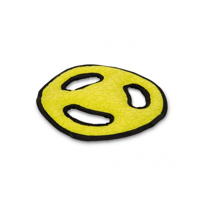 Beeztees frisbee giallo in TPR giocattolo per cane